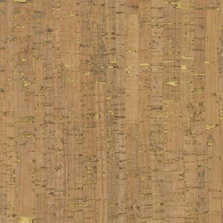 "Cork Fabric, Natural with Gold Flecks, Ever Sewn 29"" wide, Item #VLCG1"