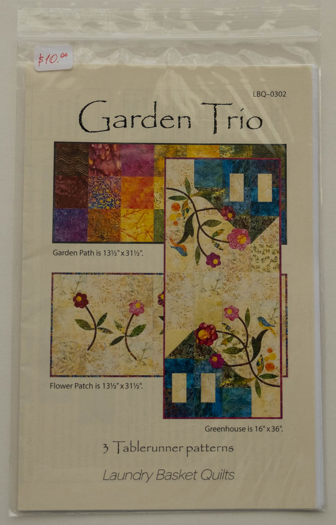 Garden Trio Pattern by Edyta Sitar from Laundry Basket Quilts, LBQ-0302
