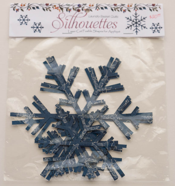 Edyta Sitar Snowflakes Blue Silhouettes by Laundry Basket Quilts, LBQ-0393
