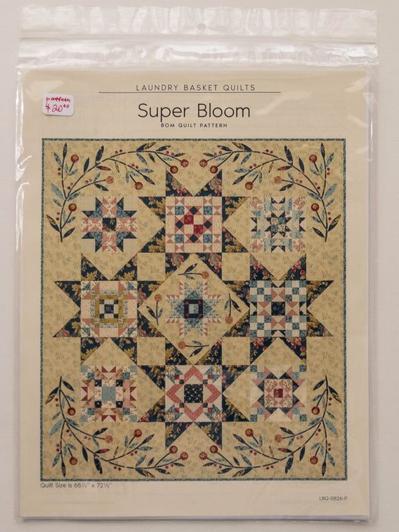 Super Bloom Pattern by Edyta Sitar from Laundry Basket Quilts, LBQ-0826-P