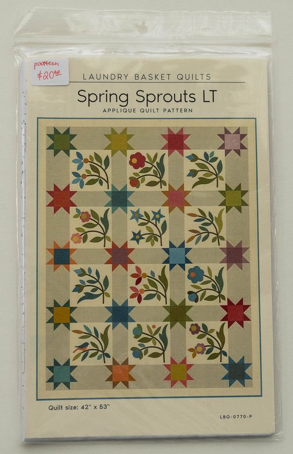 Spring Sprouts Quilt Pattern by Edyta Sitar from Laundry Basket Quilts, LBQ-0770-P