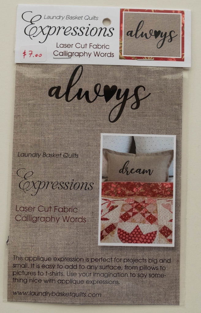 Expressions ALWAYS by Edyta Sitar from Laundry Basket Quilts, LBQ-0712-E