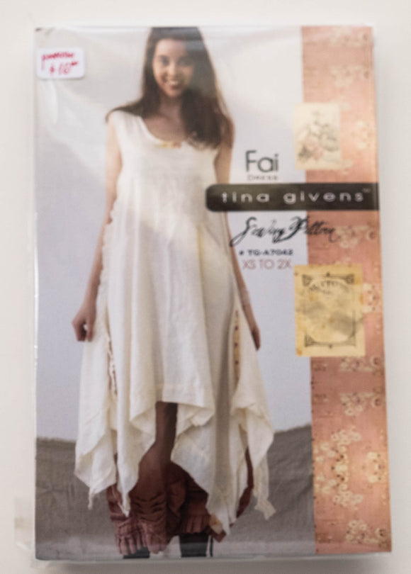 Fai Dress Sewing Pattern by Tina Givens TG-A7042