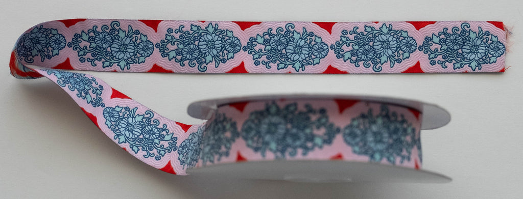 Tilda Jacquard Ribbon, Pink, Sunkiss Collection, 400008