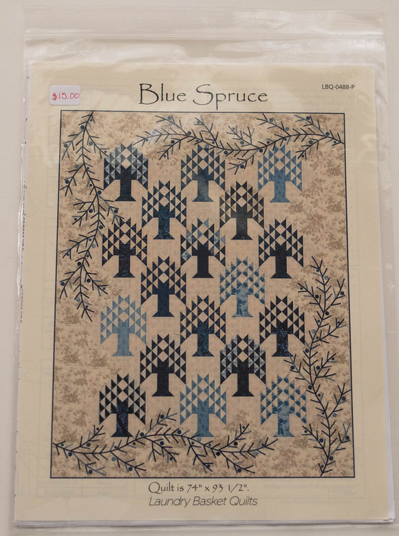Blue Spruce Pattern by Edyta Sitar from Laundry Basket Quilts, LBQ-0488-P