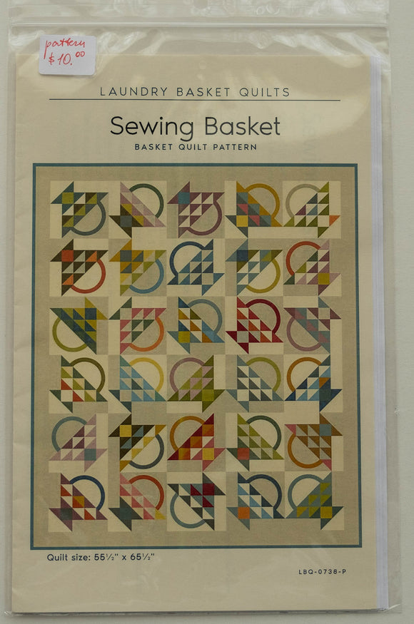 Sewing Basket Quilt Pattern by Edyta Sitar from Laundry Basket Quilts, LBQ-0738-P