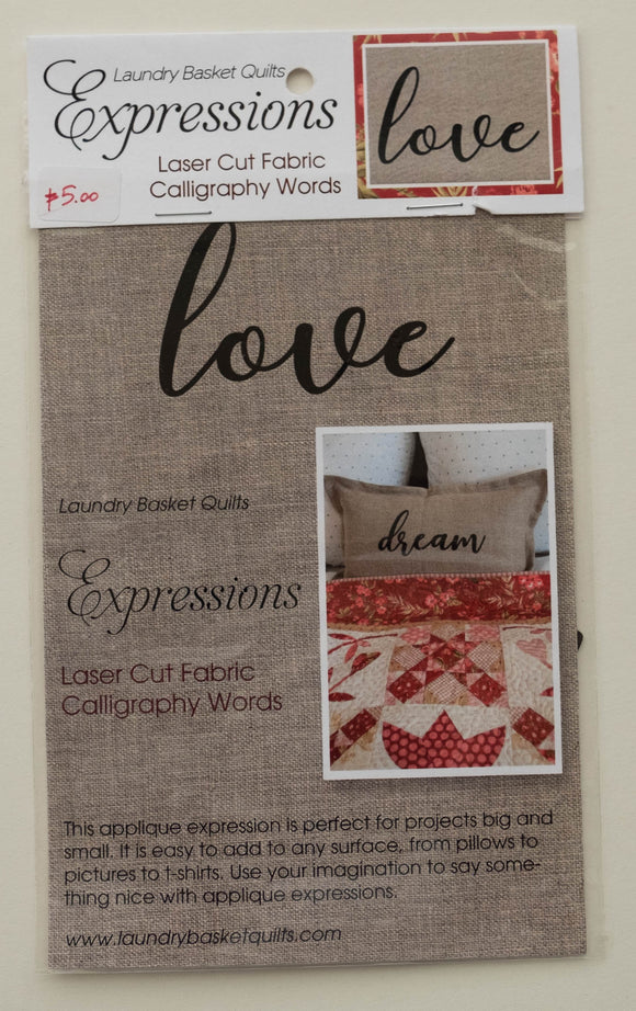 Expressions LOVE by Edyta Sitar from Laundry Basket Quilts, LBQ-0713-E