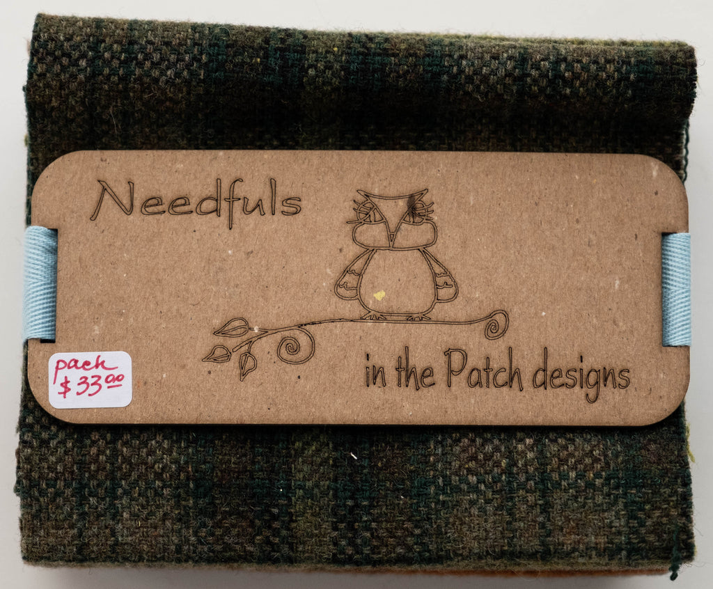 Wool Fabric Pack, Bonnie Ocean, from In the Patch Designs , Woolen Needfuls Collection