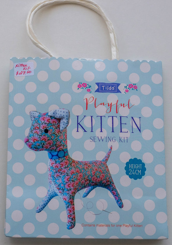 Tilda Sewing Kit, Lazy Days Collection, Playful Kitten, Height 24 cm (9.44