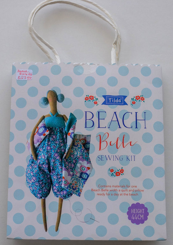 Tilda Sewing Kit, Lazy Days Collection, Beach Belle, Height 44 cm (17.3