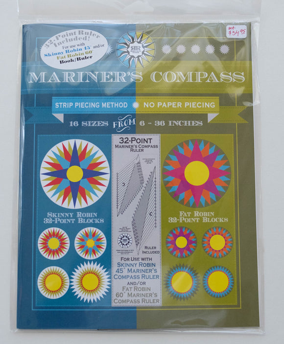 Quilters' Ruler System Mariner Compass 32-Point by Robin Ruth Designs.