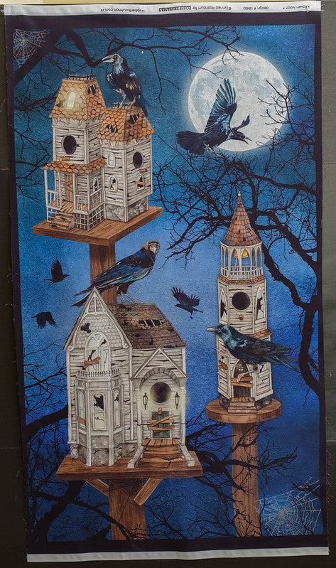Fabric Raven Moon Panel, from Robert Kaufman, design #18483 by Lynnea Washburn