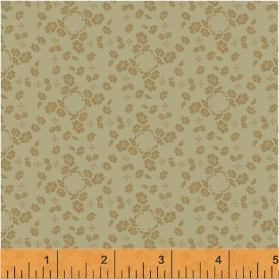 French Armoire, Flower Pillow Quilting Fabric from L'Atelier Perdu for Windham Fabrics, 51552-4, Sage