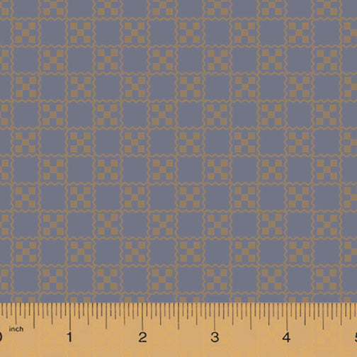 French Armoire, Garden Tablecloth Quilting Fabric from L'Atelier Perdu for Windham Fabrics, 51555-1, Slate