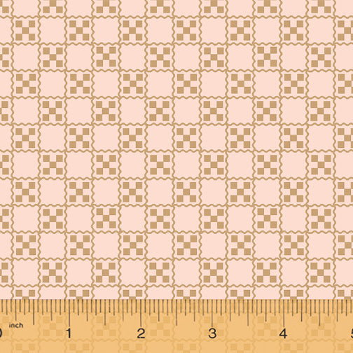 French Armoire, Garden Tablecloth Quilting Fabric from L'Atelier Perdu for Windham Fabrics, 51555-2, Dusty Blush