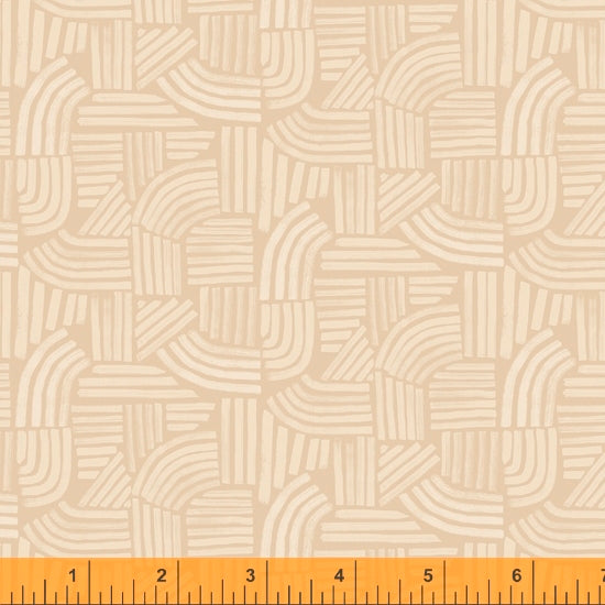 Wildflower Collection, Linea, Sand Cotton Fabric by Kelly Ventura for Windham, 52254-10