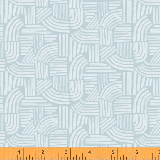 Wildflower Collection, Linea, Ice Blue Cotton Fabric by Kelly Ventura for Windham, 52254-11