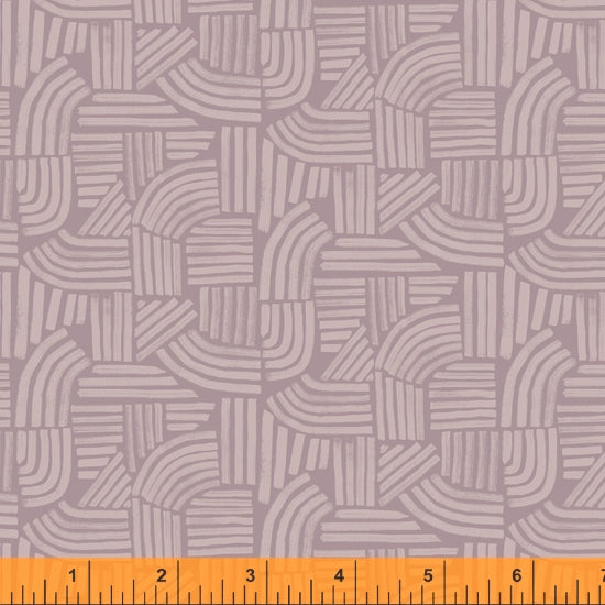 Wildflower Collection, Linea, Mauve Cotton Fabric by Kelly Ventura for Windham, 52254-3