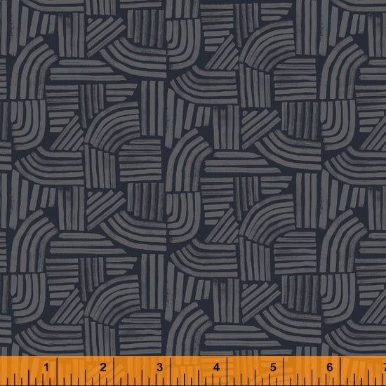 Wildflower Collection, Linea, Midnight Cotton Fabric by Kelly Ventura for Windham, 52254-9