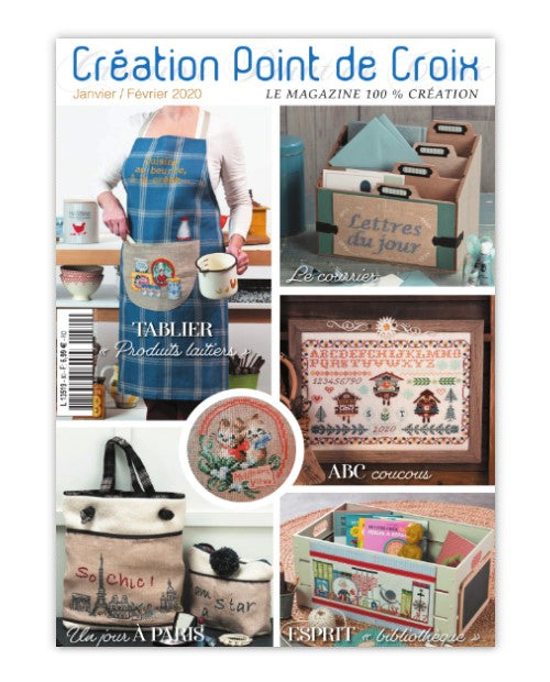 Cross stitch Magazine from France Creation Point de Croix, Jan/Feb 2020, Issue 80