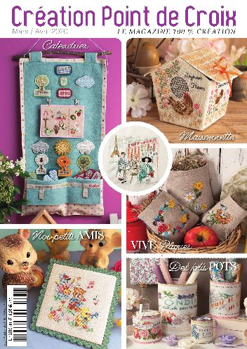 Cross stitch Magazine from France Creation Point de Croix, March/April 2020, Issue 81