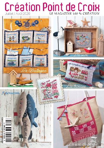 Cross stitch Magazine from France Creation Point de Croix, July/August 2020, Issue 83