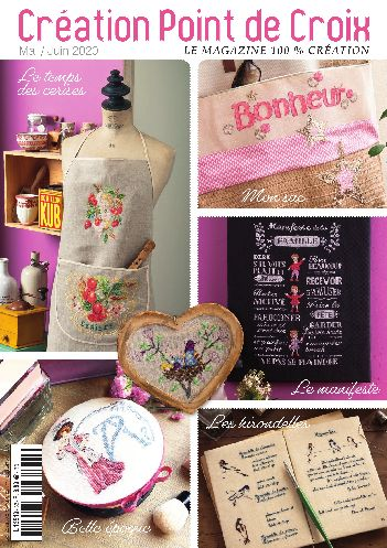 Cross stitch Magazine from France Creation Point de Croix, May/June 2020, Issue 82