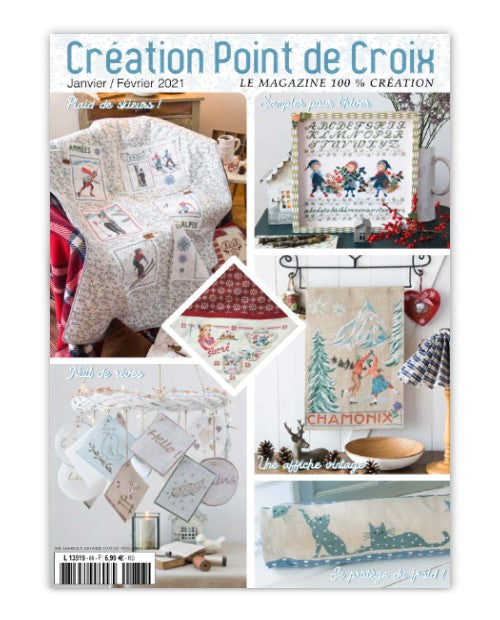 Cross stitch Magazine from France Creation Point de Croix, Jan/Feb 2021, Issue 86