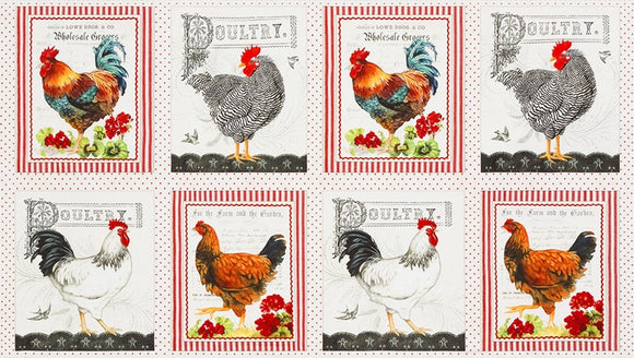 Fabric  Panel from Down On The Farm Collection, from Robert Kaufman,