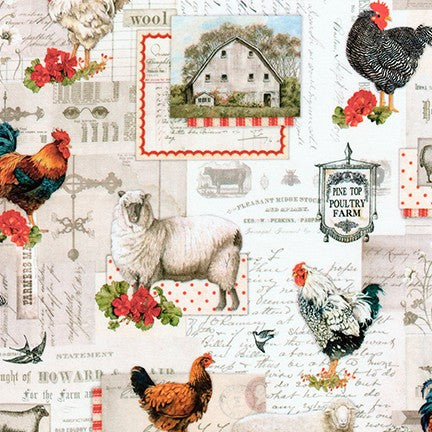 Fabric AGBD-18643-276 COUNTRY from On The Farm Collection, from Robert Kaufman