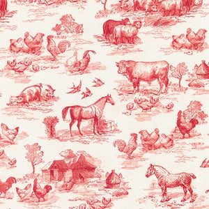 Fabric AGBD-18645-3 RED from Down On The Farm Collection, from Robert Kaufman