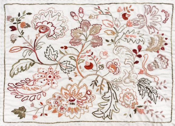French General Embroidery Sampler pre-printed design on linen Atelier De France, FG AF 04