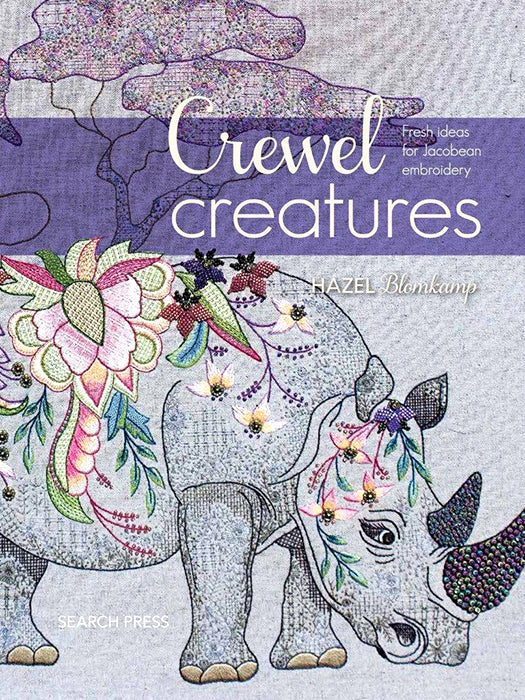 Crewel Creatures - Embroidery Book by Hazel Blomkamp from South Africa