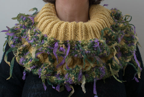 Knitted Cowl Rattan