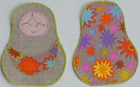 Matryoshka Key Chain Set, Bursting Stars Cocoa