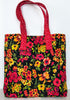 Quilted Handbag Joyful Garden At Night