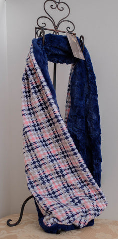 Cuddle Scarf, Hound Check Navy Blue