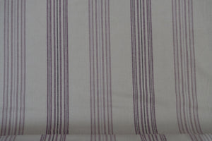"Fabric from Stof fabrics, Lilac Stripe, Denmark, linen/cotton, 60"" wide, Shabby Chic  Collection stf18-020_l"
