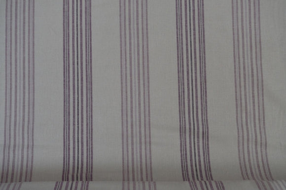 Fabric from Stof fabrics, Lilac Stripe, Denmark, linen/cotton, 60