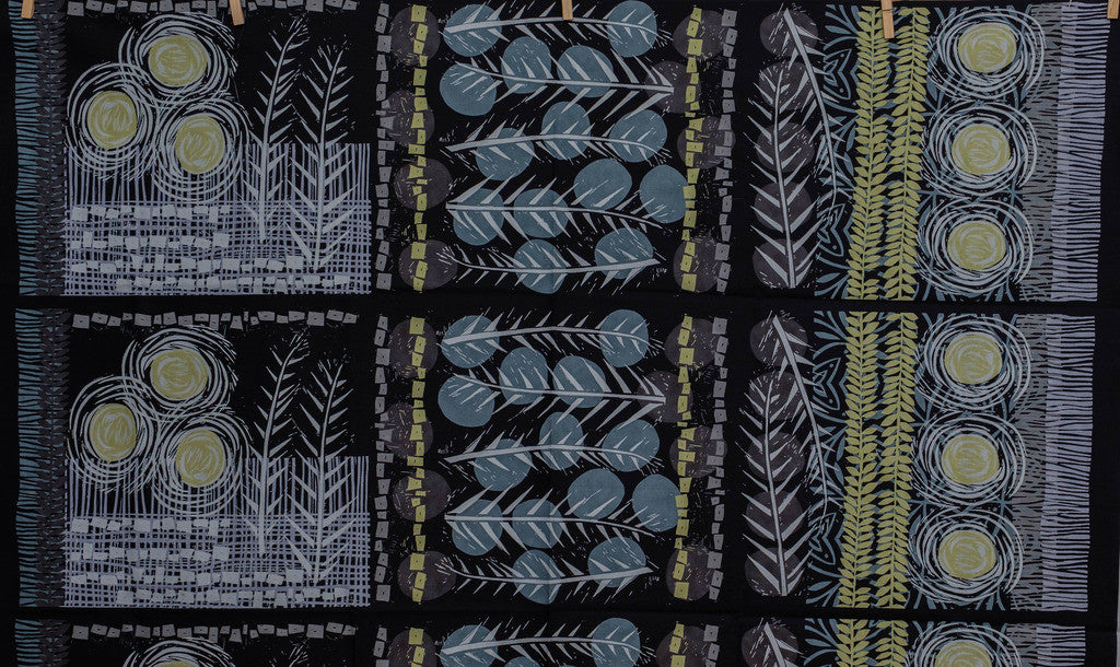 Fabric Charcoal, a Panel, from Vellory Wells Marks Collection, from Robert Kaufman,  AVW-16357-184