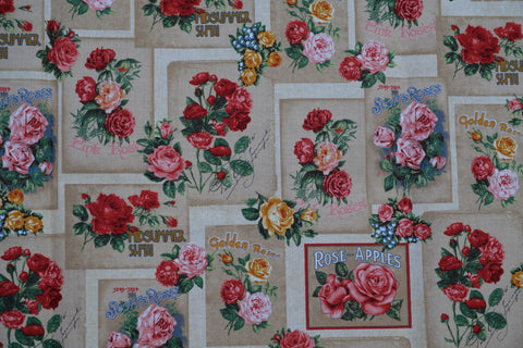 Fabric Antique Rose from Heirloom Diary Collection, from Robert Kaufman, AOG-16067-199