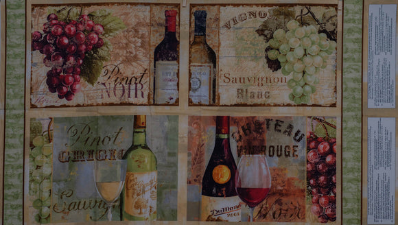 Quilting Fabric From The Chateau Table Mats panel by Wilmington Prints,