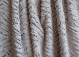 "Shannon Fabrics Luxe Cuddle 58-60"" Wide, Frosted Zebra, Gray"