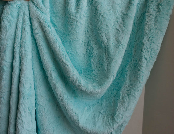 Fabric Luxe Cuddle Marble Saltwater  From Shannon Fabrics