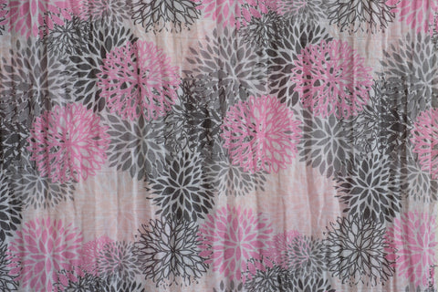 Double Gauze Fabric (Shannon Fabrics, Inc.), Blooms Embrace, Coral/Pink