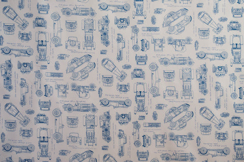 Fabric Blue from Vintage Blueprints Collection from Robert Kaufman, ACV-15674-4 white BACKGROUND
