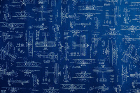 Fabric Indigo from Vintage Blueprints Collection from Robert Kaufman,  ACV-15674-4