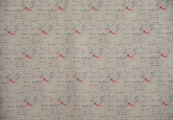 Fabric Amorous Manuscript from Vintage Chic Capsules Collection, Art Gallery Fabrics, CAP-VC-5006