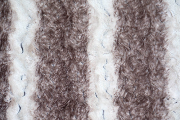 EZ Fabrics Madagascar, Faux Fur, 58-60# wide, Brown/Beige