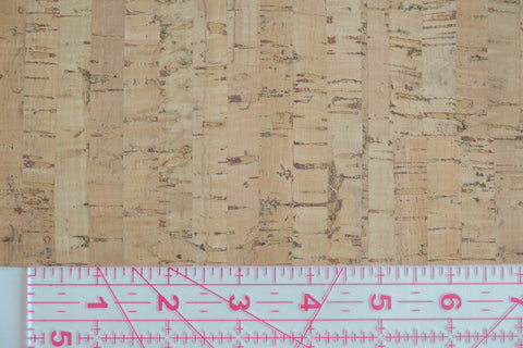 "Cork Fabric, Natural, Touch PRO Portugal,  27"" wide"